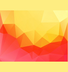 yellow pink abstract triangular background vector image