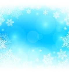 Blue snowy blurred background vector image