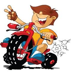 cartoon rider vector image vector image