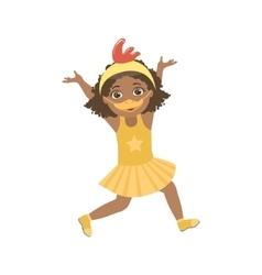 Girl Wering Duck Animal Costume vector image vector image