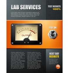 lab service brochure vector image vector image
