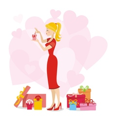 Present for woman 02 vector image vector image