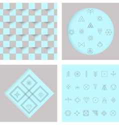 Set of geometric hipster shapes4 vector image