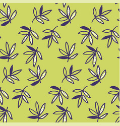 abstract tropical leaves seamless pattern for vector image vector image