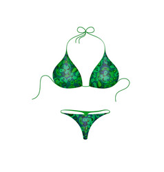bikini suit in green and blue military design vector image vector image