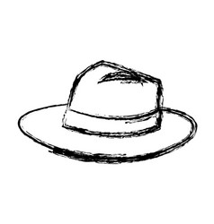 hat for men elegance with ribbon accessory icon vector image vector image