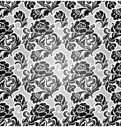 lace background ornamental flowers vector image