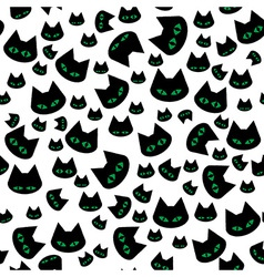 seamless texture with black cats vector image