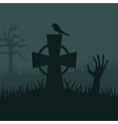 Zombies night background vector