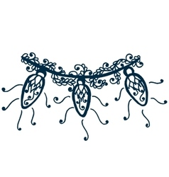 Floral lace ornament for Christmas collection vector image vector image