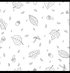seamless pattern of atumn elements vector image vector image