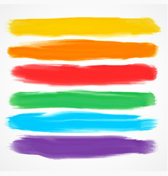 set of six different watercolor brushes vector image vector image