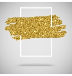Gold sparkles glitter background with frame vector