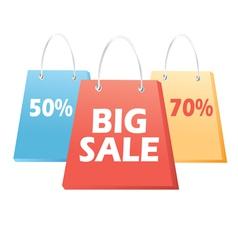 handbags sale signs vector image vector image