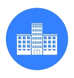 Hospital icon black single building icon from the vector