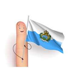 san marino flag waving vector image