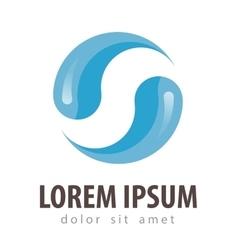 water logo design template drink or drop vector image