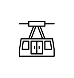 aerial tramway icon stock of transportation vector image