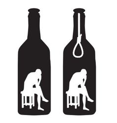 Alcoholism vector