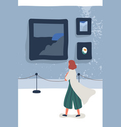 art gallery visitor flat vector image