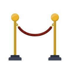 barrier rope icon vector image