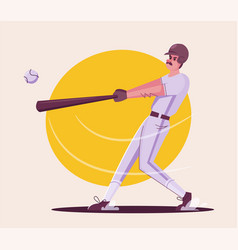 baseball player is training character design vector image