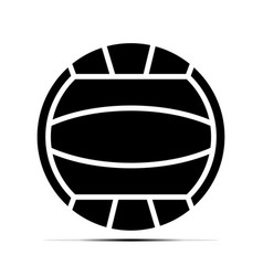 Beach volleyball ball flat icons on a transparent vector