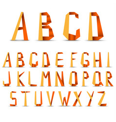 big letters alphabet from folded paper in vector image