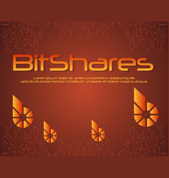 Bitshares blockchain background style collection vector