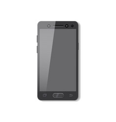 black smartphone with pure screen phone mobile vector image