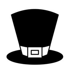 black top hat accessory fashion irish vector image