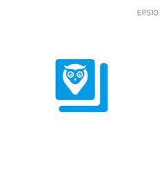 Book owl education logo template vector