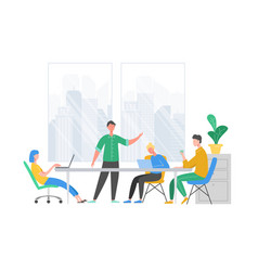 business meeting teamwork concept businessman vector image