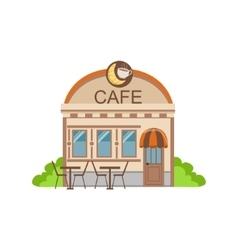 Cafe Commercial Building Facade Design vector