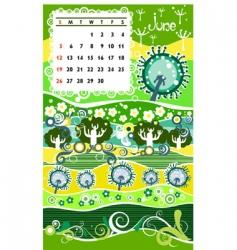 calendar june vector image