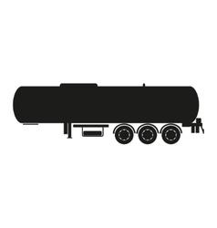 Cargo tank Silhouette of a cargo trailer vector image