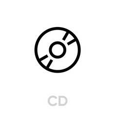 cd icon editable outline vector image