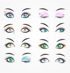 Closeup eyes beautiful women females eyes vector