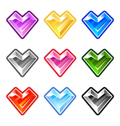 Colorful heart diamonds vector