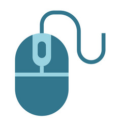 Computer mouse flat icon click and website vector