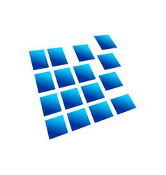digital blocks prespective 3d box symbol design vector image