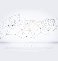 digital network wireframe background vector image