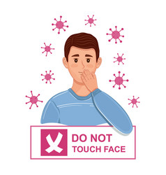 do not touch your face sign virus prevention vector image
