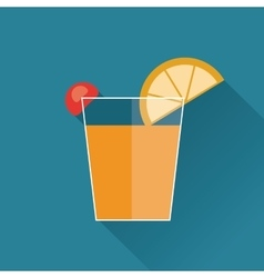 drink design cocktail icon Flat vector image