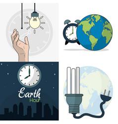 Earth hour design vector