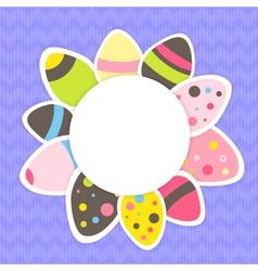 Eastern eggs pattern on a purple vector