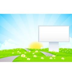 Empty Billboard vector image