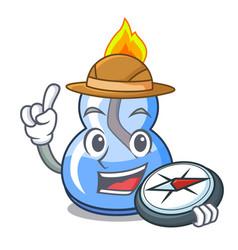 Explorer alcohol burner mascot cartoon vector