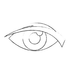 eye look watch cartoon icon vector image