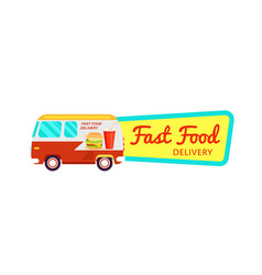 Fast food delivery isolated sticker vector